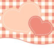 Pink mothers day card with hearts. EPS 8 Stock Illustration