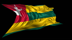 Flag of Togo Stock Footage