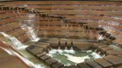Water Gardens Fort Worth Stock Footage