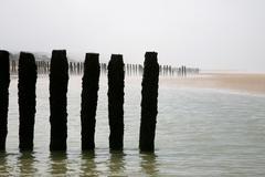 Wissant Coast line - stock photo