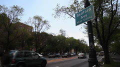 Bedford Avenue. Eastern Parkway and Bedford Ave. Stock Footage