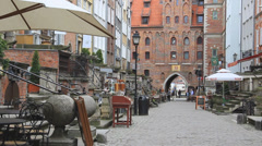 Gdansk, Poland. Mariacka street in the old town. 5 Stock Footage