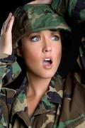 Military woman Stock Photos