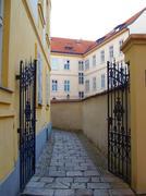 Historic alleyway - stock photo