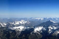 Mountains Alpes lanscape - stock photo