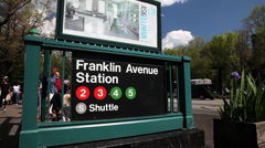 Franklin Avenue Subway Stop Stock Footage