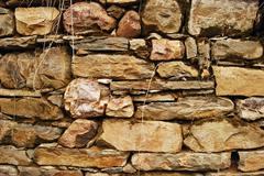 Stock Photo of Old country stonewall
