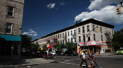 Franklin Avenue in Brooklyn. Trendy Brooklyn Neighborhood. Stock Footage