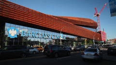 Barclays Center in Brooklyn on Flatbush Avenue.  Stock Footage