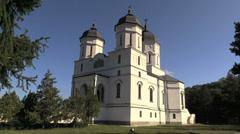 Romania monestery church cx Stock Footage