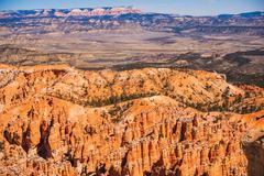 scenic bryce landscape. bryce national park in utah, united states. southern - stock photo