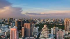 Bangkok skyline Stock Footage