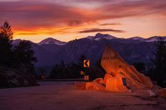 Estes park colorado. getaway to rocky mountain national park. estes park, lar Stock Photos