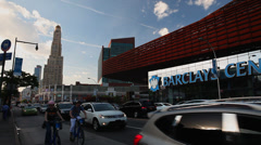 Barclays Center and One Hanson Place Stock Footage
