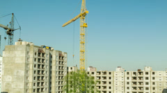 Construction of a building from blocks time lapse - stock footage
