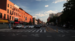 Cars in Park Slope, Brooklyn. Sunset in Park Slope Brooklyn. Stock Footage