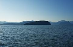 british columbia, canada. strait of georgia. canadian south west landscape. - stock photo