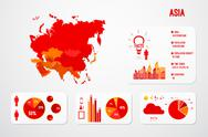 Stock Illustration of Asia Continent Map Infographics