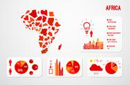 Stock Illustration of Africa Continent Map Infographics