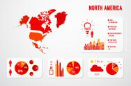 Stock Illustration of North America Continent Map Infographics