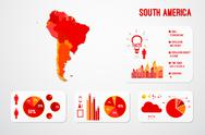 Stock Illustration of South America Continent Map Infographics
