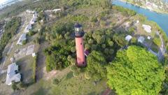 Jupiter Florida Lighthouse Aerial Stock Footage
