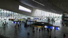 Rotterdam Central Station, Timelapse Stock Footage