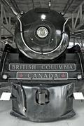 royal hudson 2860 steam locomotive in squamish british columbia railroad muse - stock photo