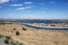 Palmdale, california usa / antelope valley - palmdale in summer. panoramic ph Stock Photos