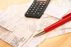 Calculating expenses Stock Photos