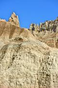Badlands pinnacles - badlands national park, south dakota, usa. Stock Photos