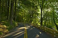 Stock Photo of oregon historic us 30 highway - oregon road through columbia river gorge. ore
