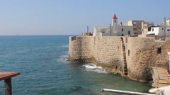 The Ancient and Biblical City of Acre - stock footage