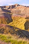 Badlands, south dakota. vertical photography of badlands formations. south da Stock Photos