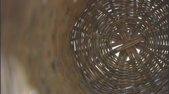 Basket weaving circles - stock footage