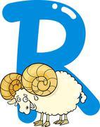 Stock Illustration of R for ram