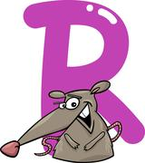 R for rat - stock illustration