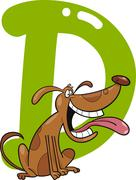 D for dog - stock illustration