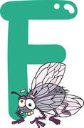 Stock Illustration of F for fly