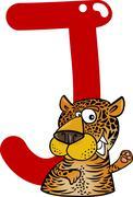 Stock Illustration of J for jaguar