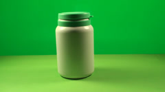 Hands Taking Pills Out Of A Bottle On A Green Screen, Medical, Pills, Chroma Stock Footage