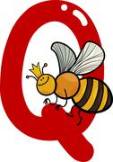 Stock Illustration of Q for queen bee