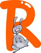 R for rabbit - stock illustration