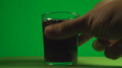 Taking A Sip Of A Glass Full With Soda, Chroma, Key, Drink, Fizzy Stock Footage
