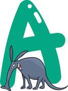 Stock Illustration of A for aardvark