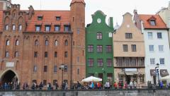 Gdansk, Poland. View on the city from the Motlawa river. 7 Stock Footage