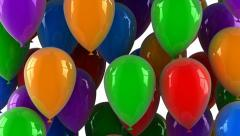 Colored balloons fly up Stock Footage