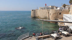 The Ancient and Biblical City of Acre Stock Footage