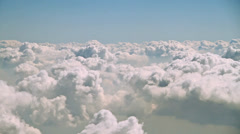 clouds, view from the airplane - stock footage