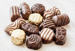Chocolate confectionery Stock Photos